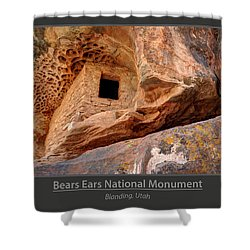 Bears Ears National Monument - Anasazi Ruin Shower Curtain by Gary Whitton