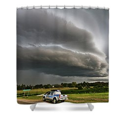 Beast Over Yorkton Shower Curtain