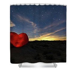 Beating Heart Shower Curtain