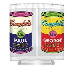 Beatle Soup Cans Shower Curtain