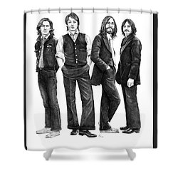 Beatles Drawing Shower Curtain by Murphy Elliott