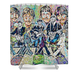 Beatles Tapestry Shower Curtain