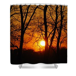 Beauatiful Red Sunset Shower Curtain