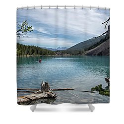 Beauiful Lake Maligne Shower Curtain by Patricia Hofmeester