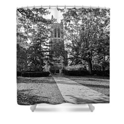 Shower Curtain featuring the photograph Beaumont Tower by Larry Carr