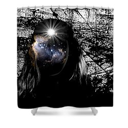 Beauties Are Things That Are Lit Inside Us Shower Curtain