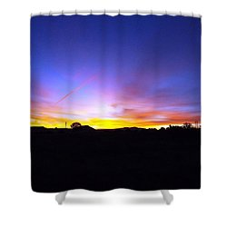 Beautifil Blue Shower Curtain by Adam Cornelison