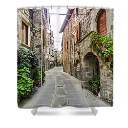 Beautiful Alleyway In The Historic Town Of Vitorchiano, Lazio, I Shower Curtain