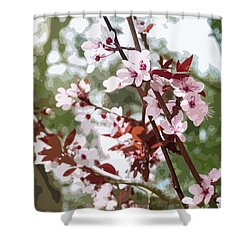 Beautiful Almond Blossoms Shower Curtain