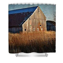 Beautiful Barn In Autumn  Shower Curtain