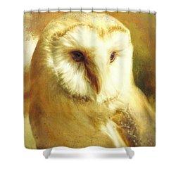 Beautiful Barn Owl Shower Curtain by Tina LeCour