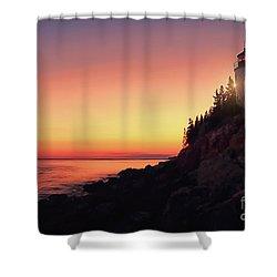 Beautiful Bass Harbor Lighthouse Shower Curtain