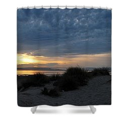 Beautiful Beach San Dunes Sunset And Clouds Shower Curtain by Matt Harang