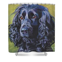 Shower Curtain featuring the painting Beautiful Black English Cocker Spaniel by Lee Ann Shepard