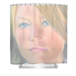 Beautiful Blues Altered Shower Curtain