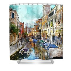 Beautiful Boats In Venice, Italy Shower Curtain
