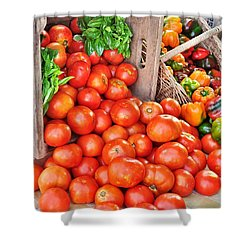The Bountiful Harvest At The Farmer's Market Shower Curtain