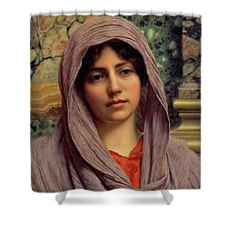 Beautiful Brunette 1918 Shower Curtain by Padre Art
