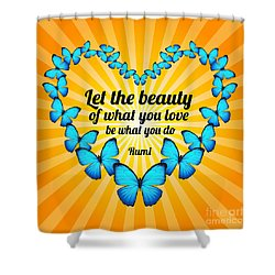 Beautiful Butterflies With Rumi Quote Shower Curtain