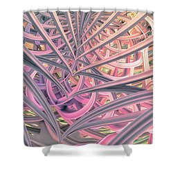 Shower Curtain featuring the digital art Beautiful Cage by Matt Lindley