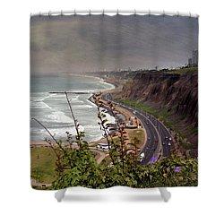 Beautiful Coastline Of Lima Shower Curtain