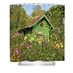Beautiful Colorful Flower Garden Shower Curtain