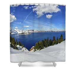 Beautiful Crater Lake Shower Curtain