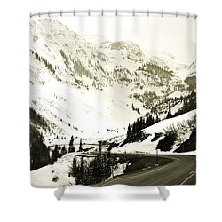 Beautiful Curving Drive Through The Mountains Shower Curtain by Marilyn Hunt