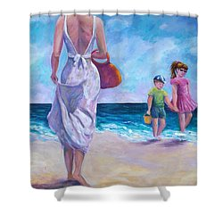 Beautiful Day At The Beach Shower Curtain