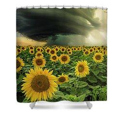 Shower Curtain featuring the photograph Beautiful Destruction  by Aaron J Groen