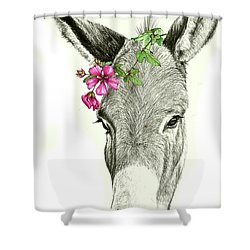 Beautiful Donkey Shower Curtain