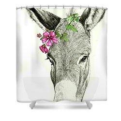 Beautiful Donkey Shower Curtain by Heidi Kriel