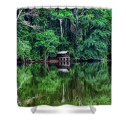 Beautiful Evening On A Lake Shower Curtain