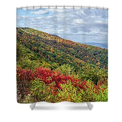 Shower Curtain featuring the photograph Beautiful Fall Foliage In The Blue Ridge Mountains by Lori Coleman