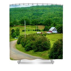 Beautiful Farm In Windsor Forks Shower Curtain by Ken Morris
