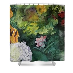 Beautiful Floral Jumble Shower Curtain