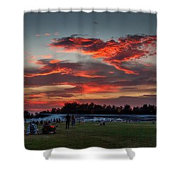 Shower Curtain featuring the photograph Beautiful Fourth Of July Sunset by Robert Bales