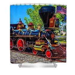 Beautiful Gingerbread Train No 22 Shower Curtain