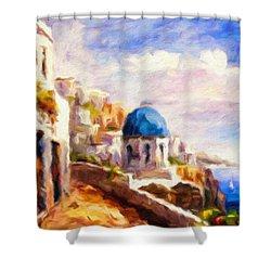 Beautiful Greece Shower Curtain