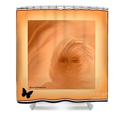 Shower Curtain featuring the painting Beautiful Is In The Eyes Of The Beholder By Sherriofpalmsprings by Sherri  Of Palm Springs