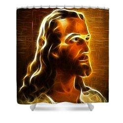 Beautiful Jesus Portrait Shower Curtain by Pamela Johnson