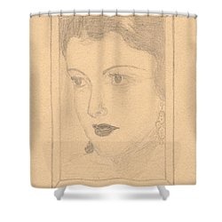 Beautiful Lady Face Shower Curtain