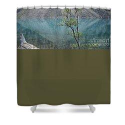 Beautiful Lake Moraine Shower Curtain by Patricia Hofmeester
