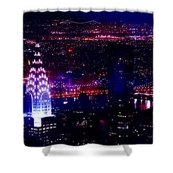 Beautiful Manhattan Skyline Shower Curtain