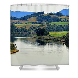 Beautiful Manning River 06663. Shower Curtain