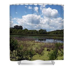 Beautiful Marsh View Shower Curtain