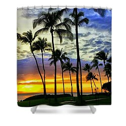 Beautiful Maui Hawaii Sunset Shower Curtain
