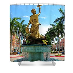 Beautiful Mizner Park In Boca Raton, Florida. Shower Curtain