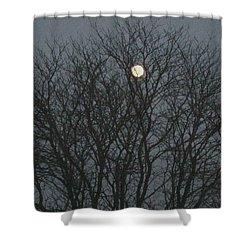Beautiful Moon Shower Curtain by Sonali Gangane
