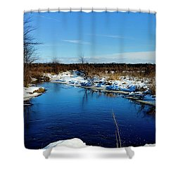 Beautiful Necedah Wildlife Refuge  Shower Curtain by Ricky L Jones
